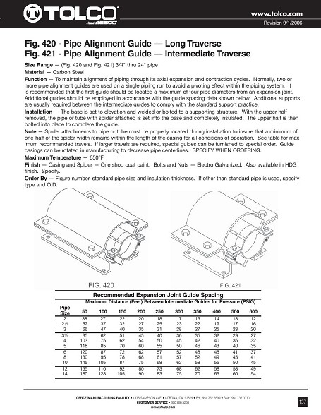 Pipe alignment guide industrial fittings and valves inc