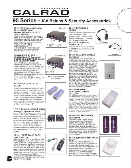 Calrad Electronics 95-1046 Dual Audio RCA Balun CAT 5